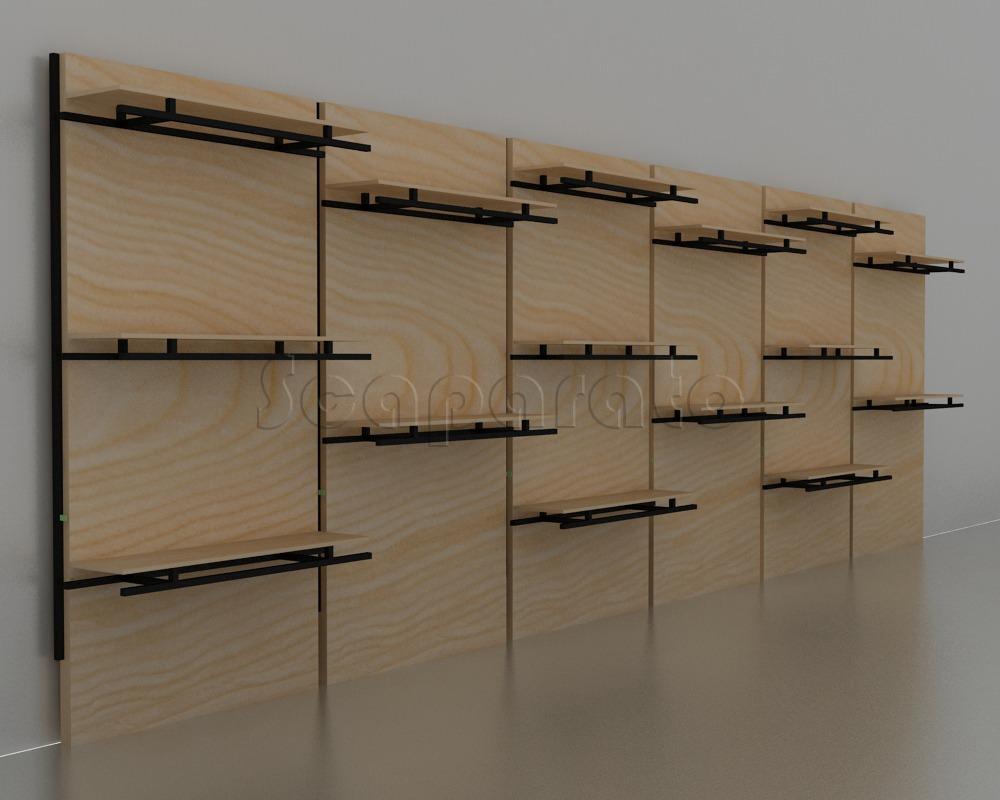exhibición modular de pared