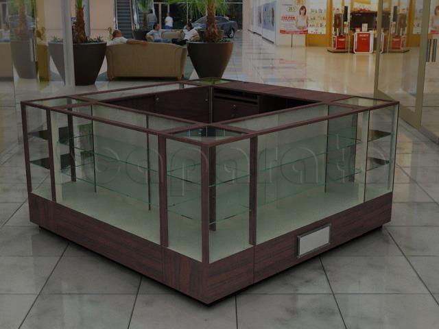 display cases kiosks