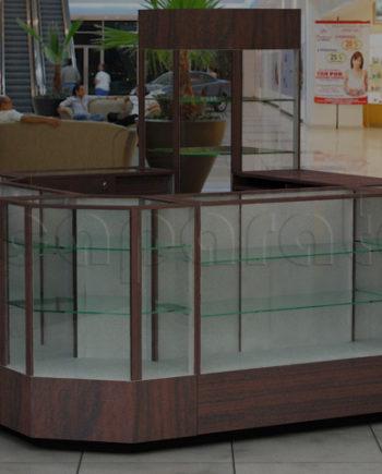 4 views retail kiosk