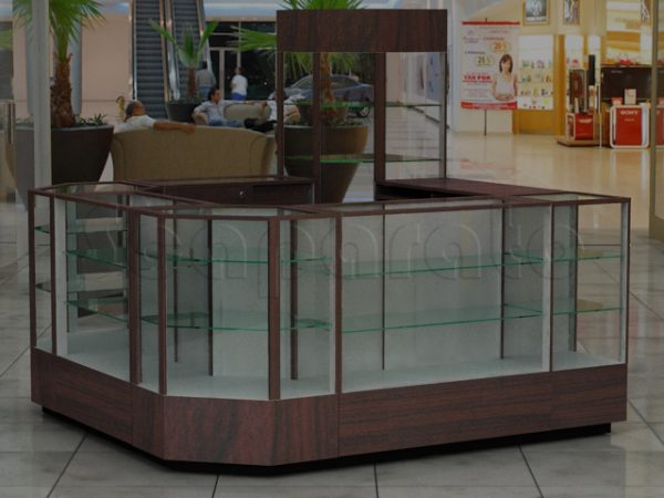 4 views retail kiosk