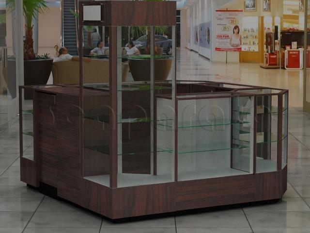 4 sides mall kiosk