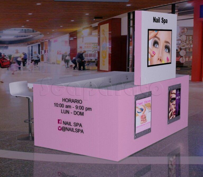 kiosko comercial de nail spa