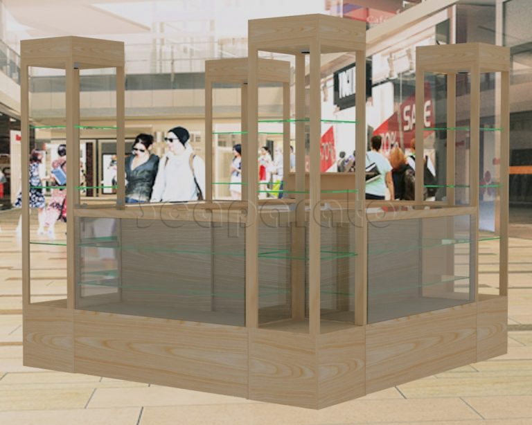 Retail showcases kiosk with towers