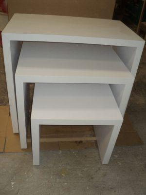 retail display tables set