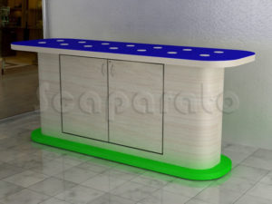 mesa de exhibición