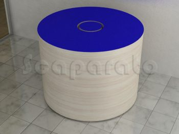 circular retail table