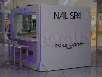 the lobby nail spa kiosk