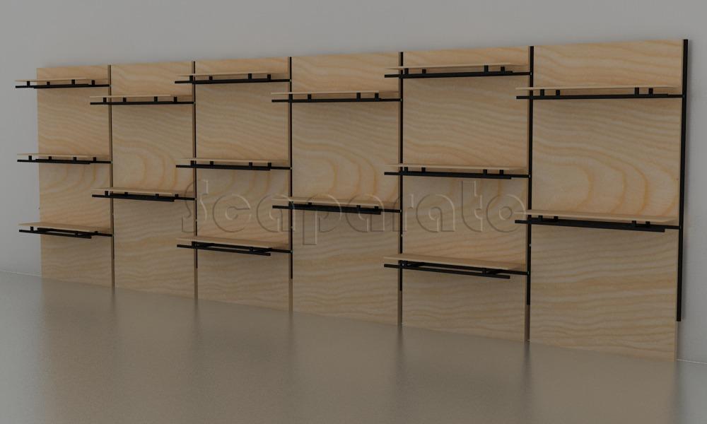 exhibidor modular de repisas