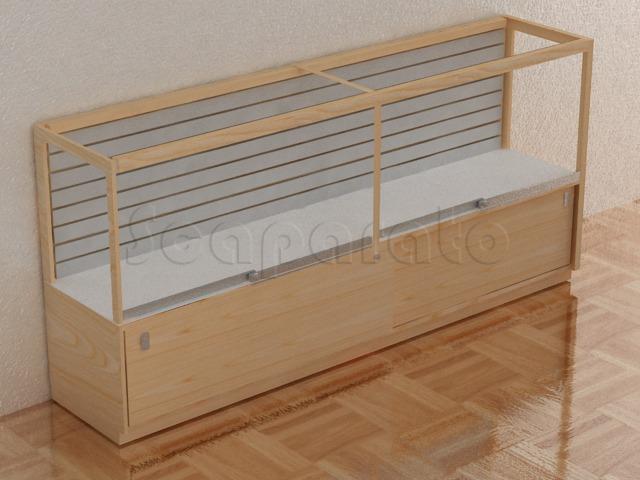 slatwall cvounter display case