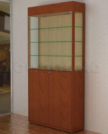 vitrina de pared comercial