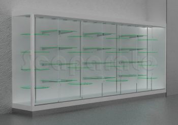 glass wall showcase