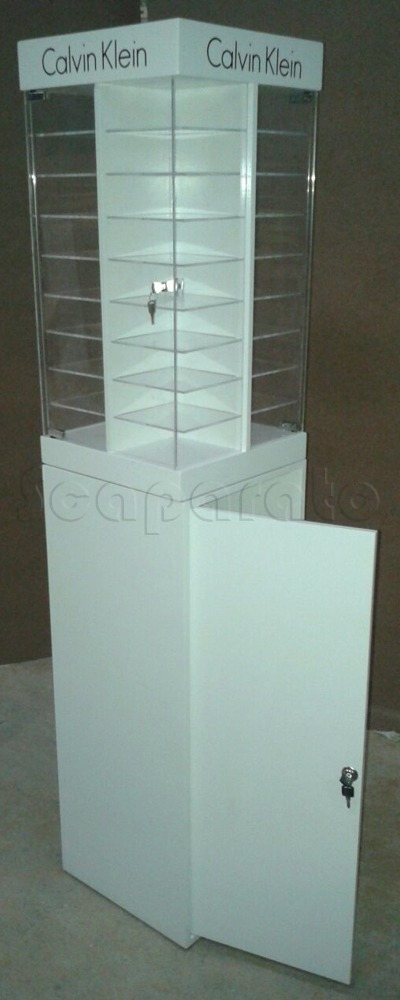 Calvin Klein frames acrylic display cases