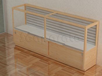 slatwall counter display case