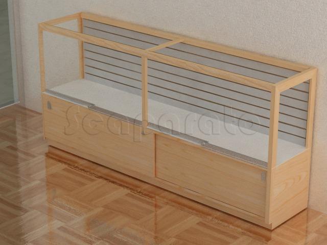 slatwall counter display case