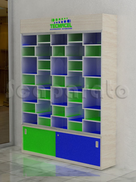 retail wall showcase