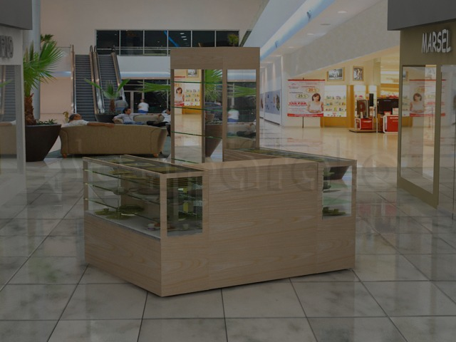 3 views mall kiosk