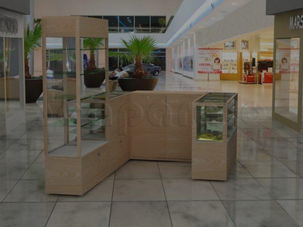 3 sides retail kiosk