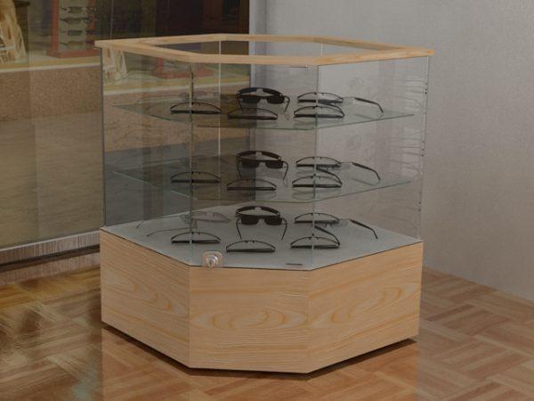 vitrina exagonal