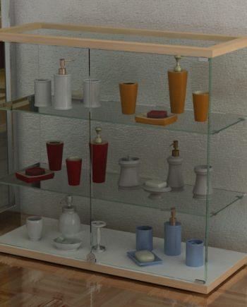 vitrina mostrador con repisas