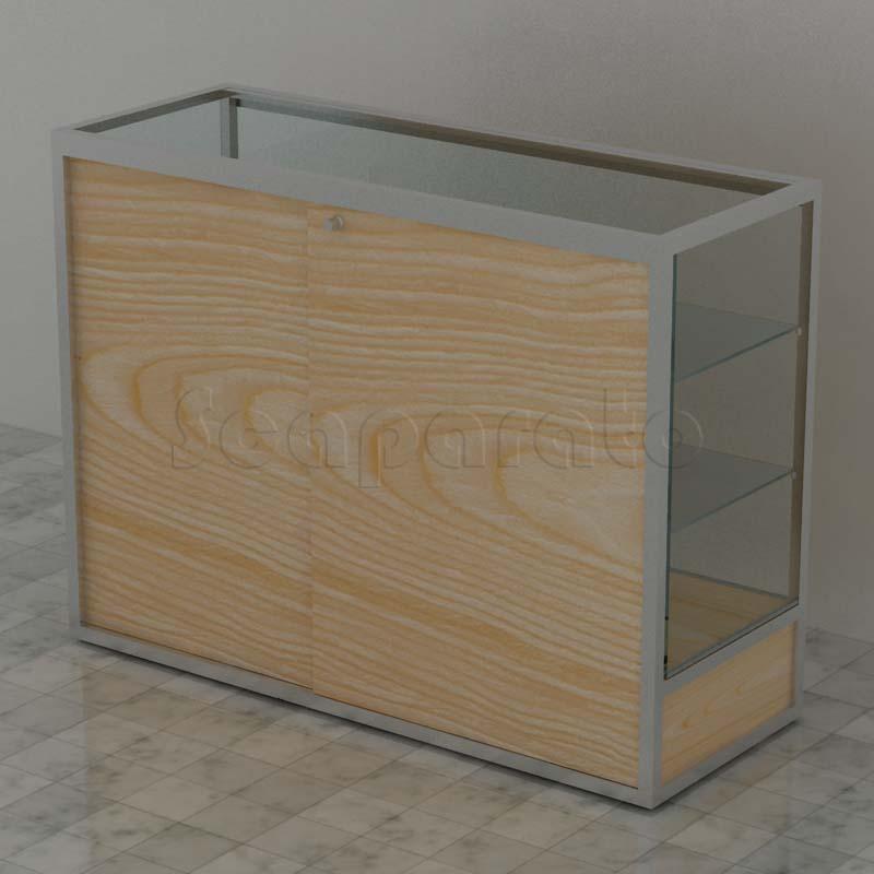 Aluminum counter display cases