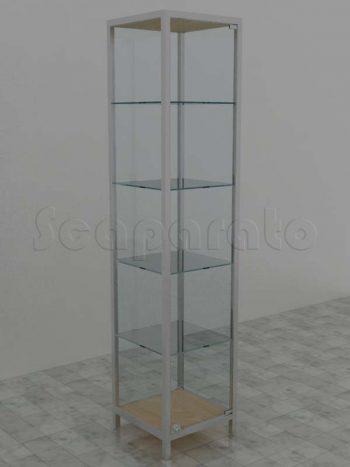 Aluminum tower display case