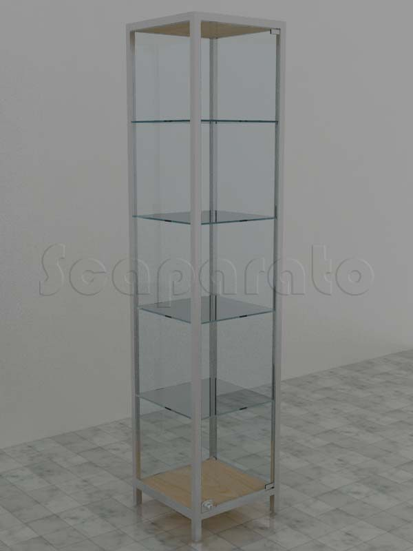 Aluminum tower display case