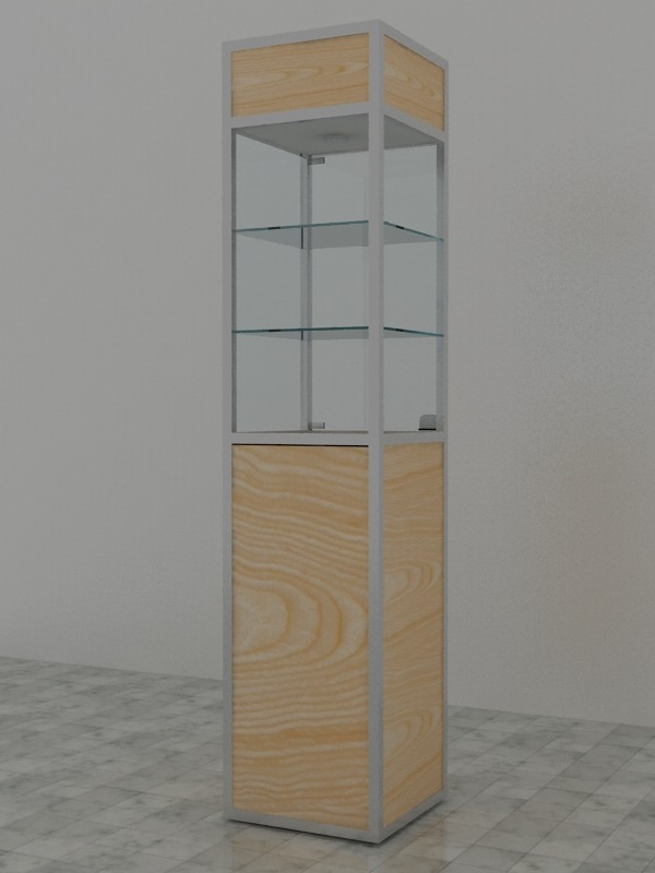 Aluminum tower display showcase