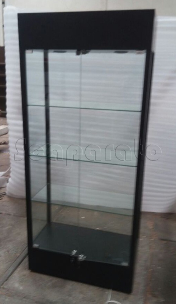 Complete height display cases