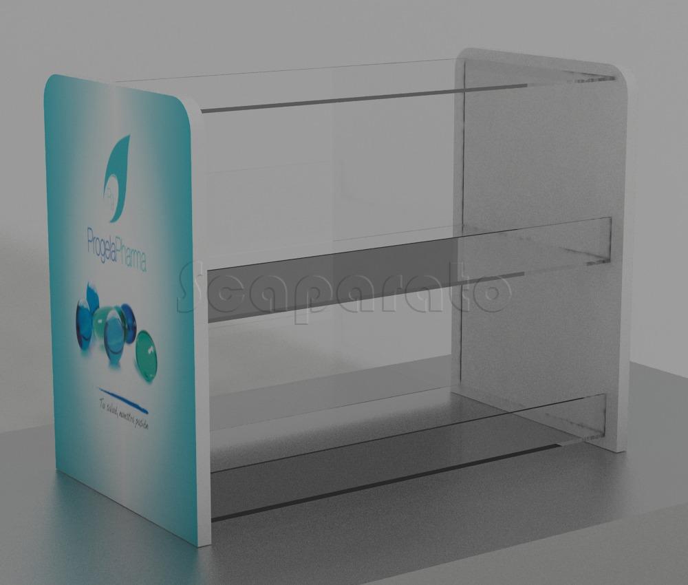 Counter table acrylic display
