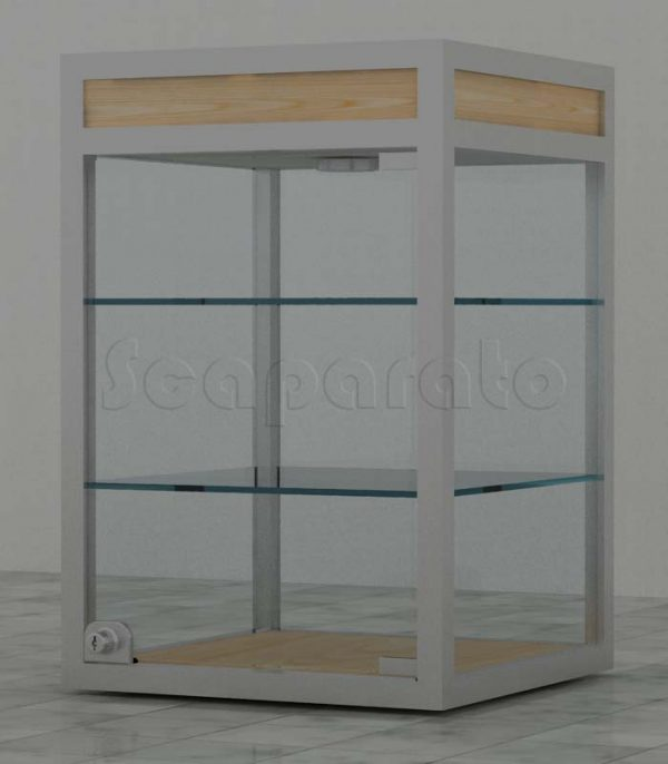 Countertop aluminum display cases