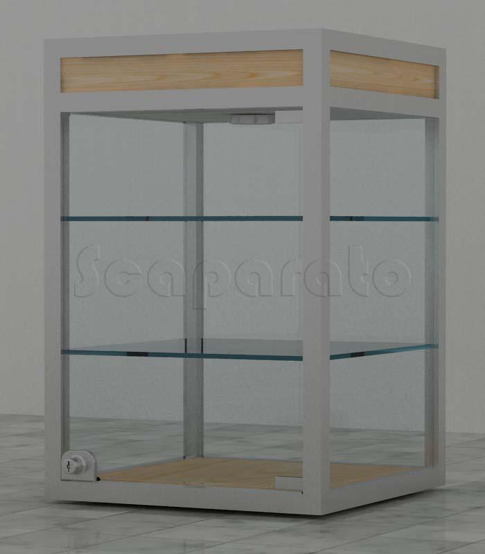 Countertop aluminum display cases