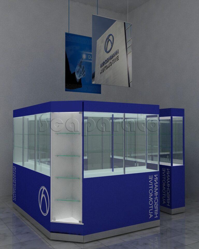 High showcases retail kiosk