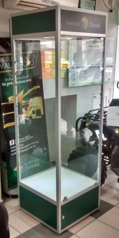 Torre de vitrina de aluminio