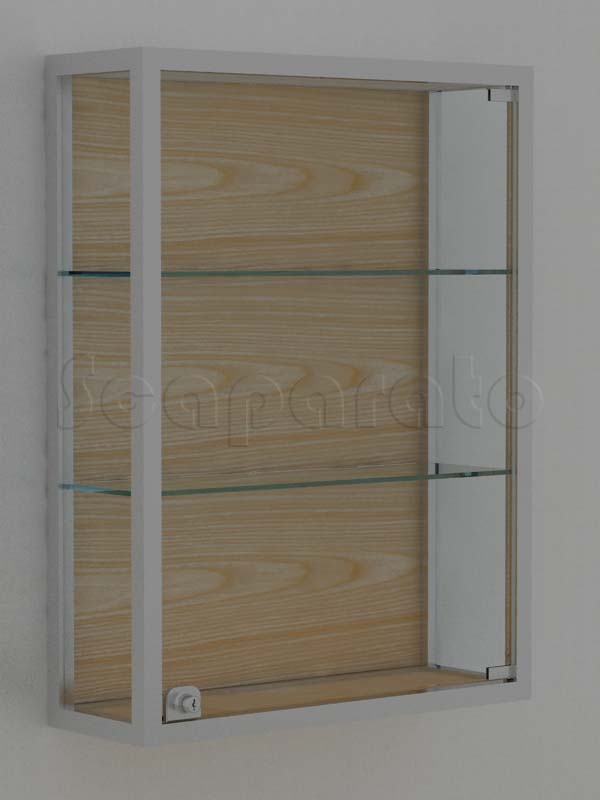 Vitrina empotrable de pared de aluminio vp02a scaparato for Vitrinas de pared
