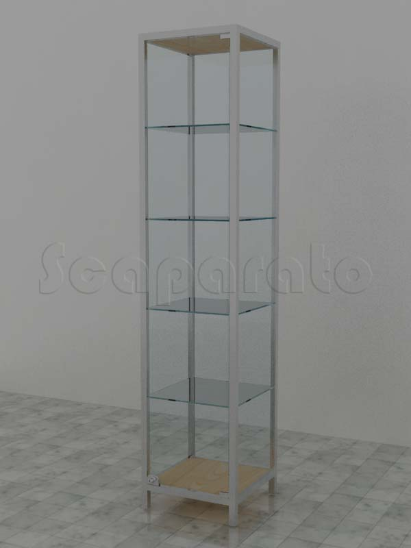 Vitrina de torre de aluminio
