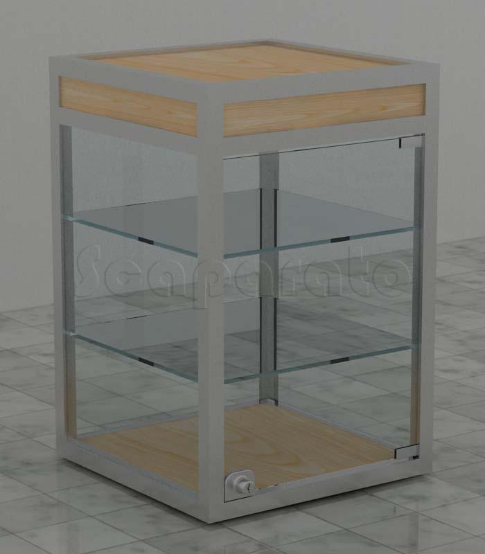 Vitrinas de mesa de aluminio