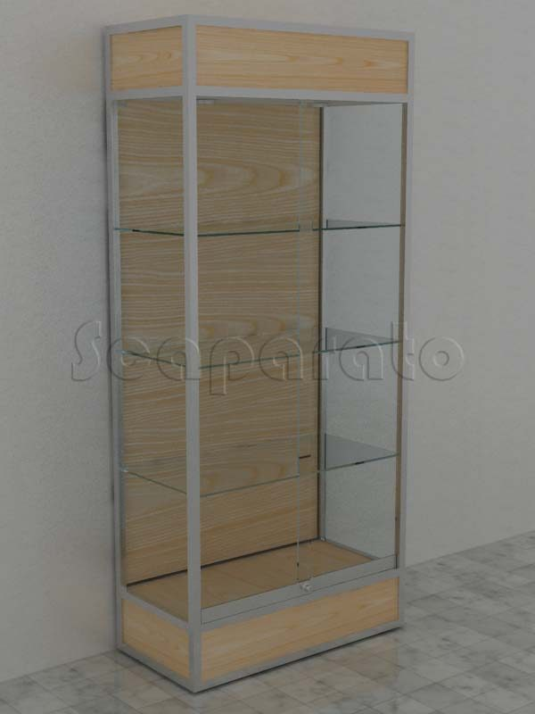 Wall aluminum tower showcase TS06A